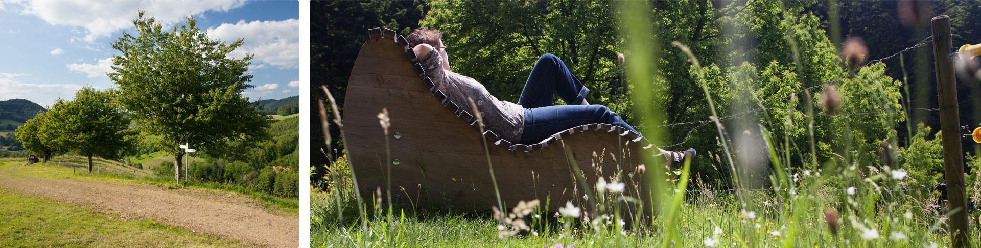 Gönnen Sie sich Ruhe und Erholung auf unseren Naturliegen
