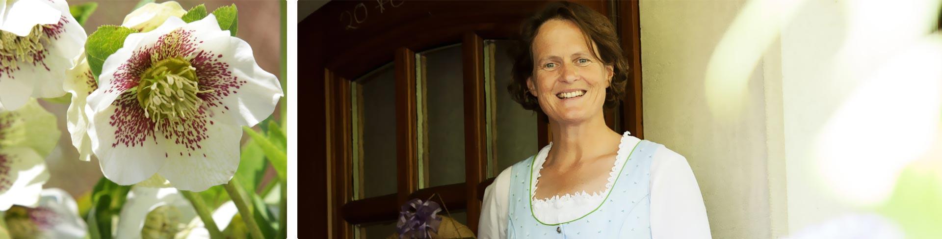 Carola Gschwander am Eingang der Pension