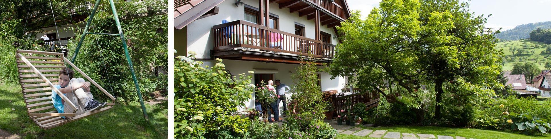 Der Roseneckgarten bietet viele Nischen zum entspannen