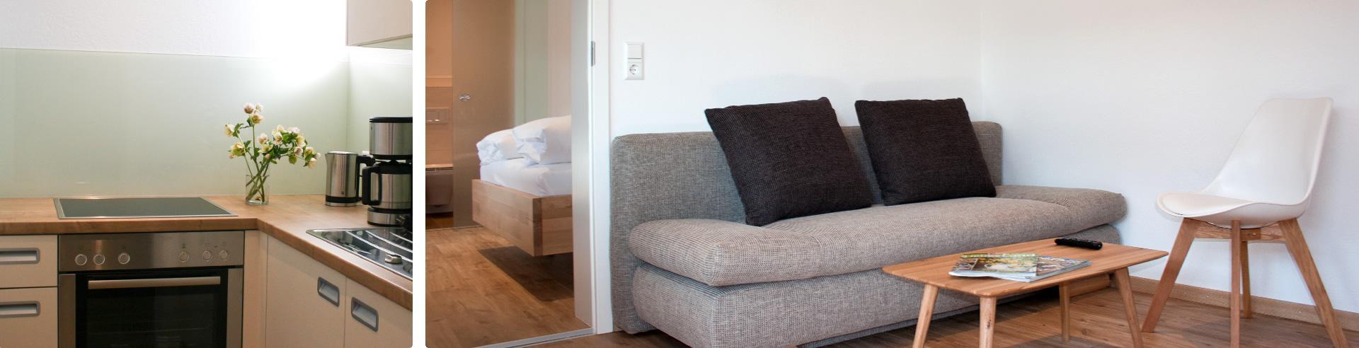 Ferienkomfort: Appartement mit Wohnzimmer und seperater Küche