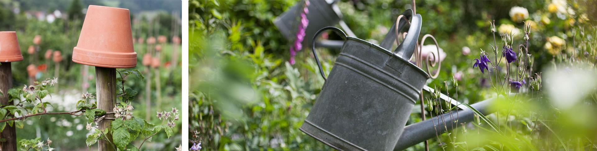 Im Garten warten liebevoll gestaltete Details darauf entdeckt zu werden