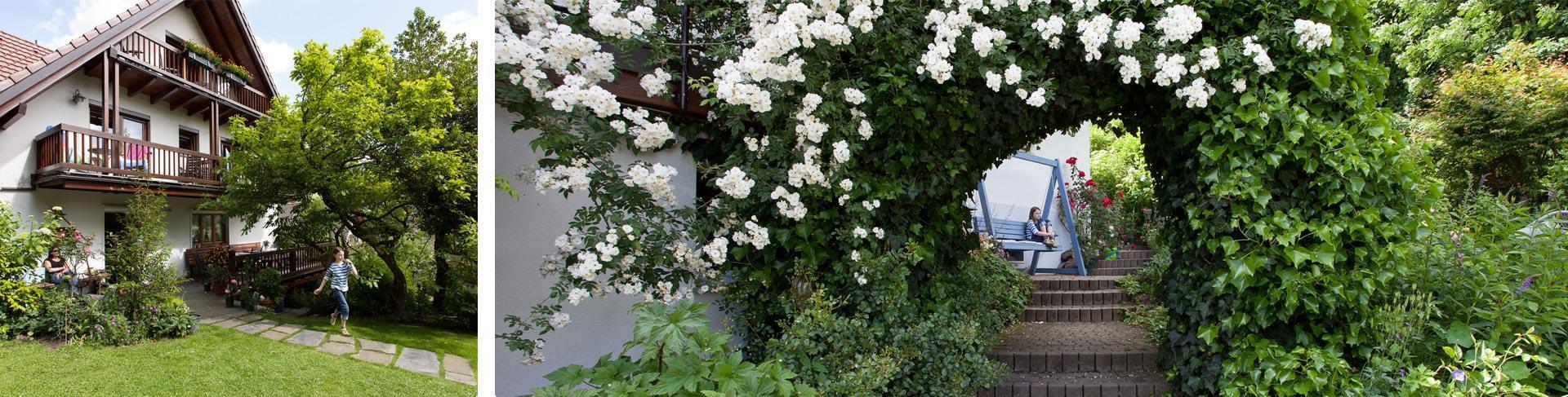 Erfreuen Sie sich an der Pension und Garten