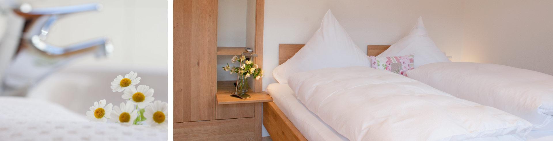 Roseneck: Zimmer und Appartements mit Frühstück